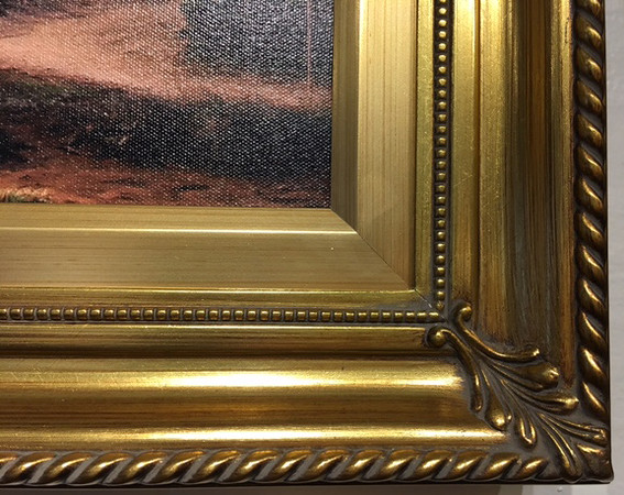 296 Gold frame (corner sample)