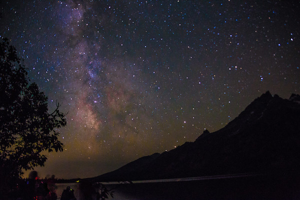 The Milky Way on Jenny Lake- Wyoming