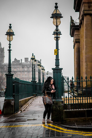 Street Moments in Edinburgh, Scotland