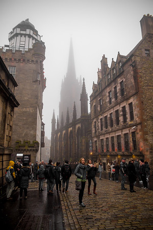 Foggy Tips in Edinburgh, Scotland