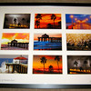 """Season's of Manhattan Beach. 9 image collage (black frame/white mat)"