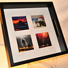 "Photo Tray.  4 images matted underneath glass.  Tray is a dark mahogany wood finish.  Dimensions:  10"" X 10"".  Any of my images can be incorporated into this photo tray."