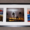"""Season's of Manhattan Beach"". <br /> 3 image collage with black frame/white mat. Each photographic print is an 8"" x 10"".<br /> Overall dimensions: 37"" long X 13"" high X 1"" deep."