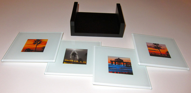 Glass Photo Coasters.  Any of my images can be incorporated into these glass photo coasters. Colors available: white and black.<br /> SOLD OUT!