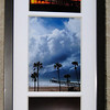 """Storm Treo"".  3 storm images framed and matted. Each photo is a 5"" X 7""."