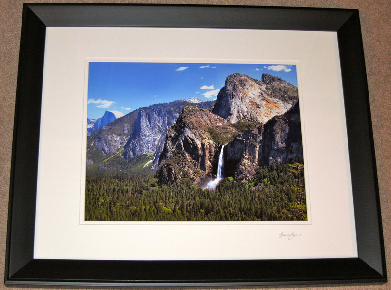"""Springtime Yosemite"".  11"" X 14"" photo print with a white mat & black frame."