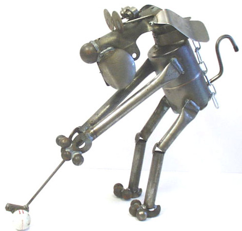 Golfer Dog D28 by Yardbirds at Smith Galleries_7291735332_o