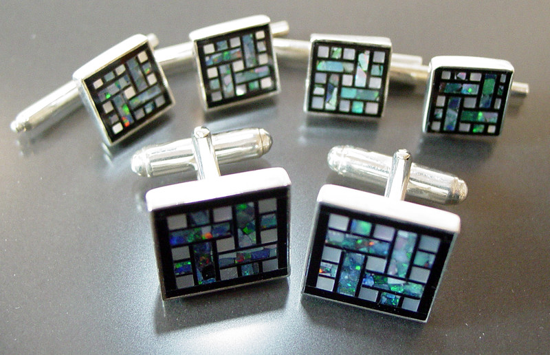 Cuff Link and Stud set at Smith Galleries - GFM-C70G-S40OG_2046945357_o