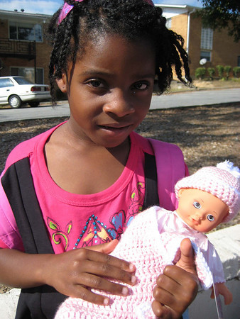 Girls get Baby Dolls from FBC Doraville