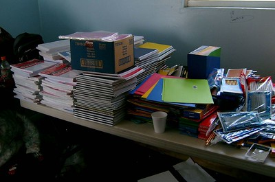 School Supplies donated by FBC Mountain Park