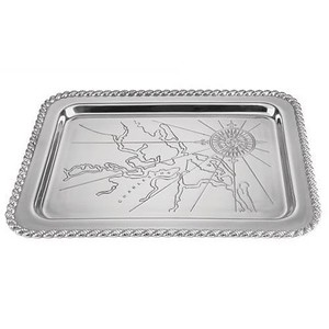 The Charleston Harbor Silver Serving Tray