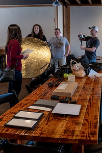 Christopher Kerr, Film Maker (center) and his crew on set for the 72 Hour Competition.