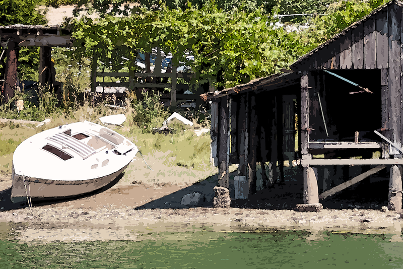 Old Boat Shed and Boat