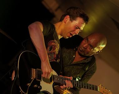 Laurence Jones with Roger Innis