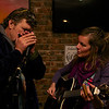 "Johan & Lizzie jamming together.  <a href = ""https://www.facebook.com/thefishwives"" target = ""_blank"">Fishwives</a>."