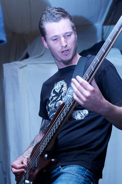 """Mark Bates playing bass for <a href=""""https://www.facebook.com/pages/Those-Days-Are-Gone/137903686377657/"""">Those Days are Gone</a>."""
