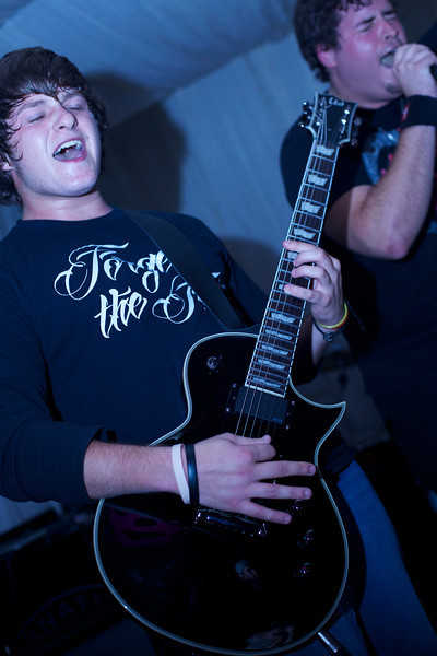 """Guitarist Ryan Le Gras of <a href=""""https://www.facebook.com/forgetthefall/"""">Forget the Fall</a>."""