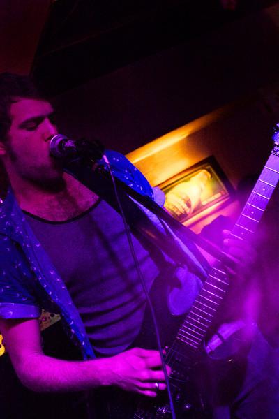 "David Glover on the guitar for <a href=""https://www.facebook.com/ShackesandBones"" target=""_blank"">Shackles & Bones</a>."