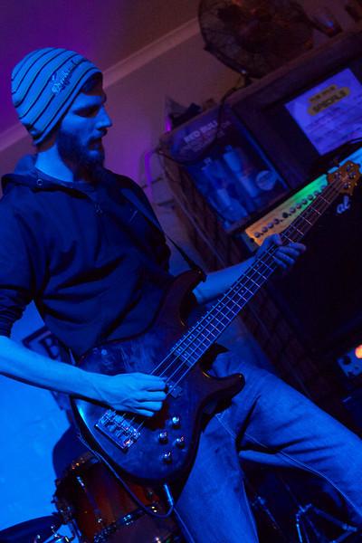 "Craig Albers playing bass for <a href=""https://www.facebook.com/gentlemencallershc"" target=""_blank"">Gentlemen Callers</a>."