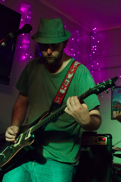 "Luke Clayton on the guitar for <a href=""https://www.facebook.com/ShackesandBones"" target=""_blank"">Shackles & Bones</a>."