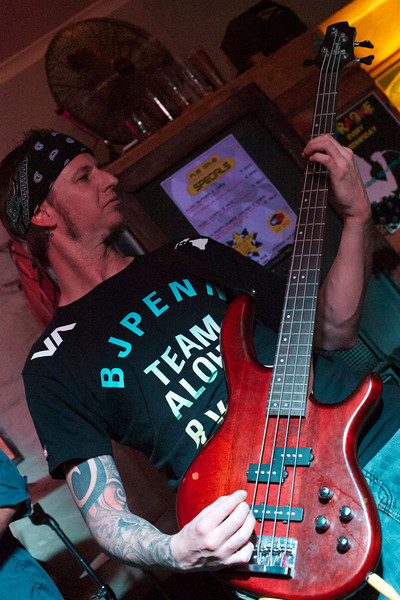 Mark Bates playing bass for Those Days are Gone