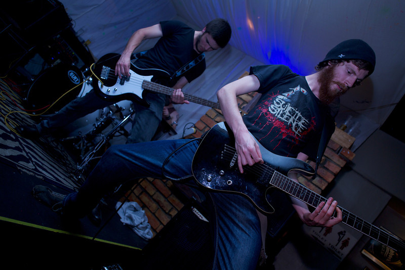 """<a href=""""https://www.facebook.com/TDSMBband"""" target=""""_blank"""">The Devil Sent Me Back's</a> Craig Albers (foreground) and Ross Ford (background)."""