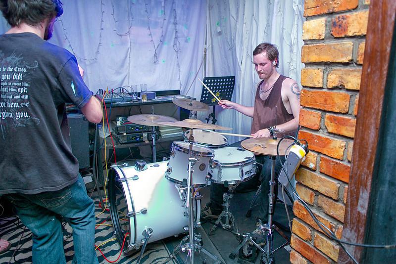 """Jason Brits on the drums for <a href=""""https://www.facebook.com/TDSMBband"""" target=""""_blank"""">The Devil Sent Me Back.</a>"""