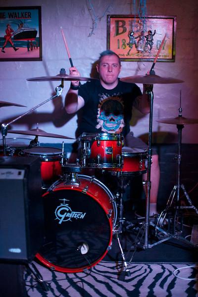 "Grant Mears on the drums for Gentlemen Callers.  Band: <a href = ""https://www.facebook.com/gentlemencallershc"", target = ""_blank"">Gentlemen Callers</a>"