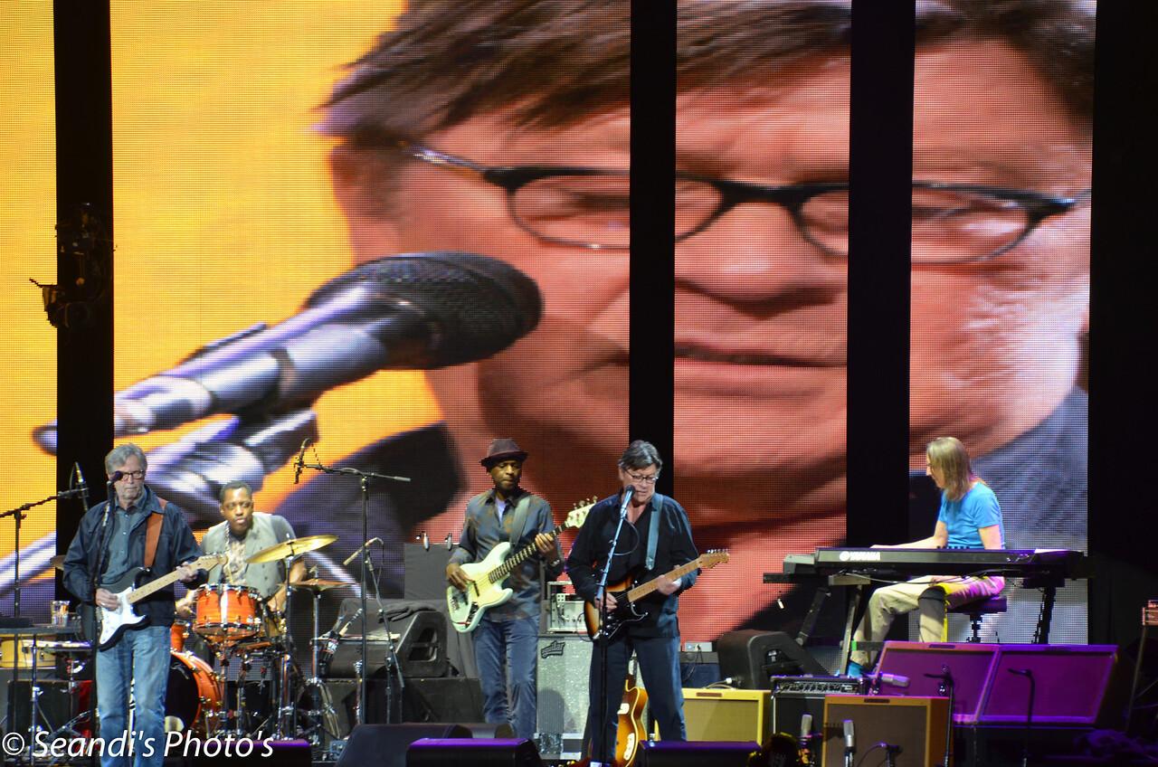 Eric Clapton with Robbie Robertson