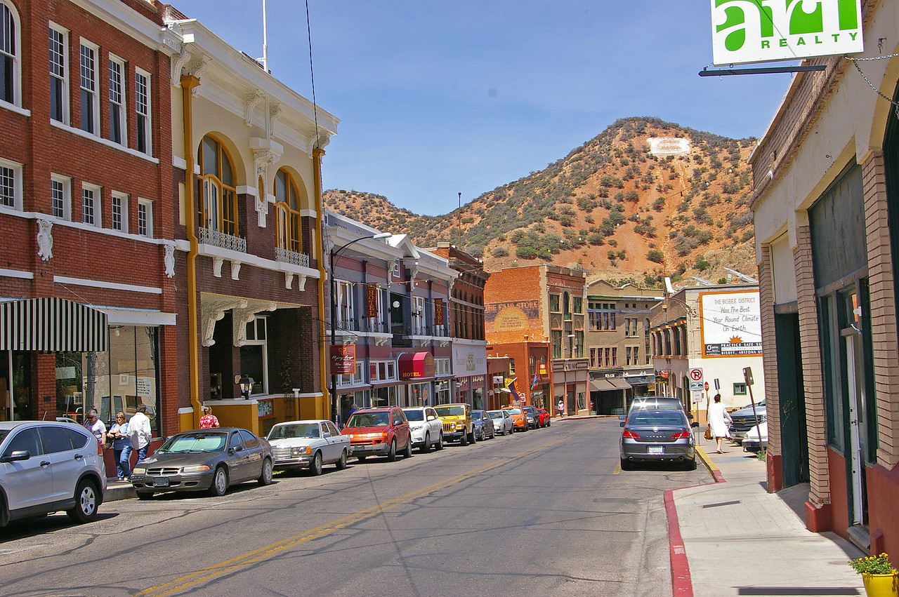 Bisbee, Az.  small old mining town.
