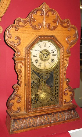 "Gilbert ""Perfect"" Oak Shelf Clock"
