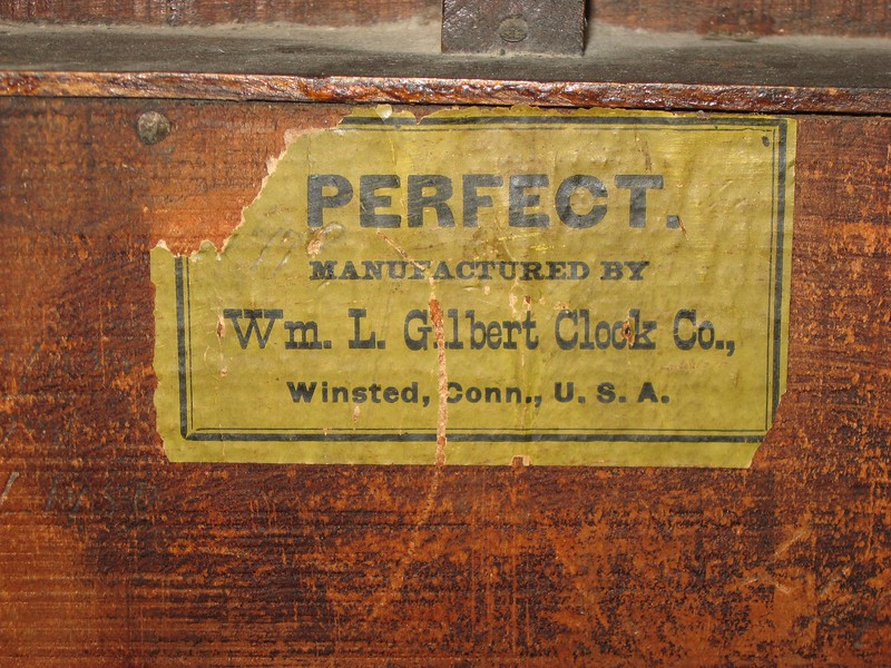 PERFECT, Manufactured by Wm. L. Gilbert Clock Co., Winsted, Conn., U.S.A.
