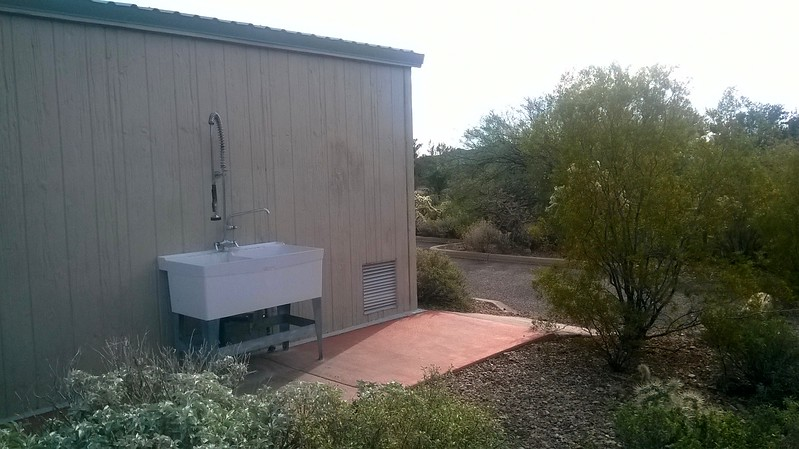 Washing  Station at the Rest Rooms,Gilbert Ray Park