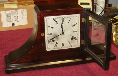 Gilbert Square Dial Tambour Mantel Clock, Made in 1925