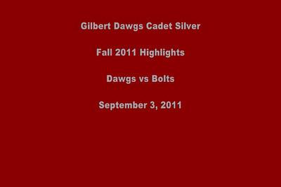 Gilbert Dawgs Cadet Silver vs Buckeye Bolts 090311