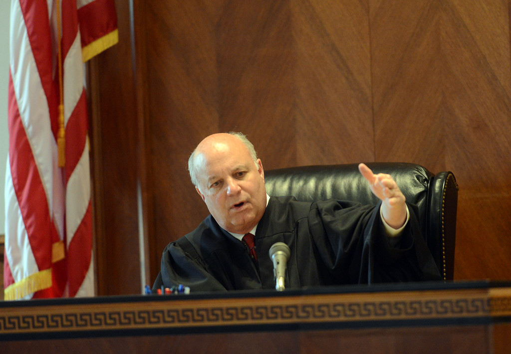 . Tania Barricklo-Daily Freeman                      Ulster County Court Judge Don Williams adddresses potential jurors Monday afternoon.