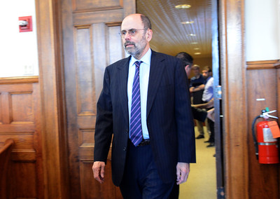 Tania Barricklo-Daily Freeman                      Nunez defense attorney Gerald Shargel enters the courtroom Monday during jury selection.