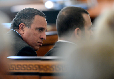 Tania Barricklo-Daily Freeman                      Giberto Nunez in Ulster County court Monday during jury slection proceedings.