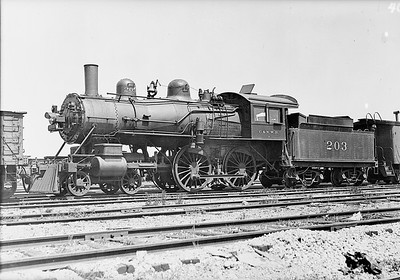 2014.015.01.0096--gilford heath COPY neg--C&NW--steam locomotive 203--no location--no date