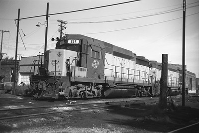 2014.015.02.0167--gilford heath 620 neg--C&NW--diesel locomotive 815--Madison WI--1972 0800