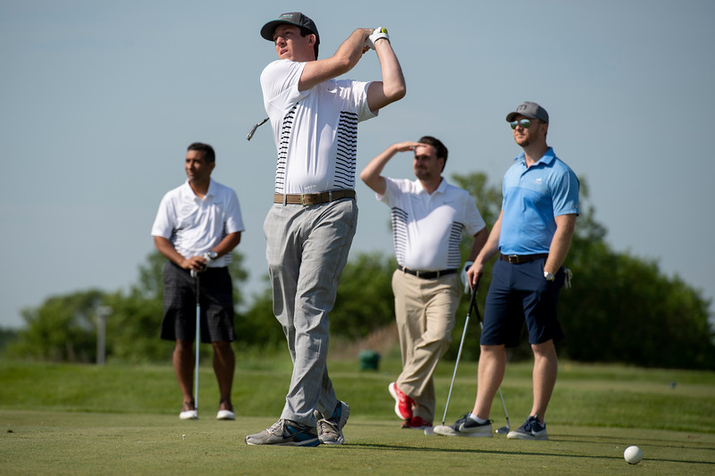 Attendees of the 5th Annual Rich Markiewicz Golf Classic on Tuesday, June 5, 2018, during HARBOR's 11th Aluminum Outlook Summit in Chicago. PHOTO BY MAX GERSH