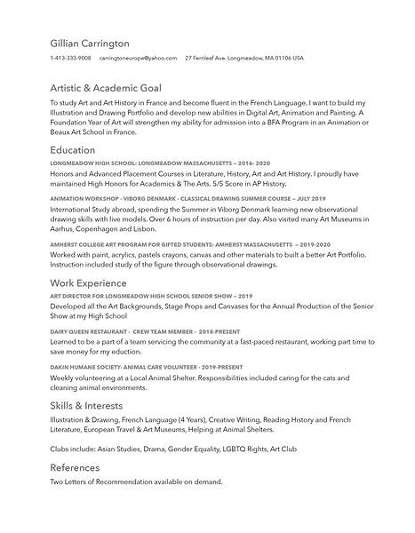 Gillian New Resume
