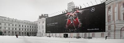 Mercedes Benz humongous billboard Berlin Germany