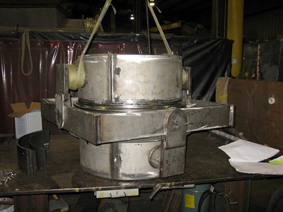 Gimbal expansion joint during fabrication
