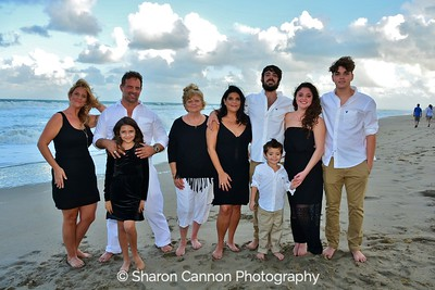 Gina & family beach gallery