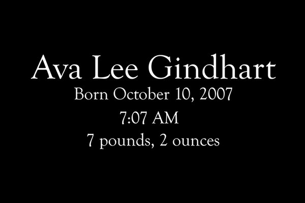 It started here. Happy 7th Birthday, Ava!