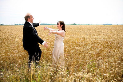Love in a golden wheat field