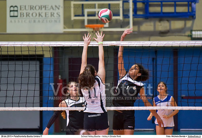 School Volley Bastia - Volley 4 Strade Rieti 7º Trofeo Nazionale Under 16 Femminile - 5º Memorial Tomasso Sulpizi.  PalaGiontella Bastia Umbra PG, 28 Dicembre 2015. FOTO: Michele Benda © 2015 Volleyfoto.it, all rights reserved [id:20151228.MB2_2268]