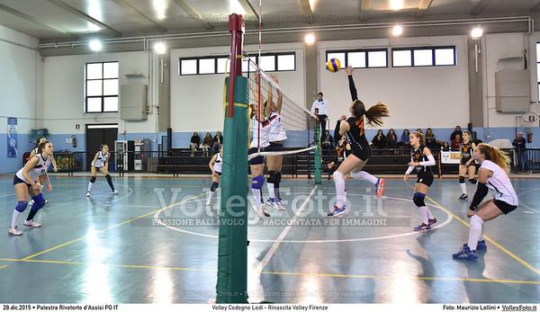 Volley Codogno Lodi - Rinascita Volley Firenze Qualificazioni Girone B • 7º Trofeo Nazionale Under 16 Femminile / 5º Memorial Tomasso Sulpizi.  Palestra Rivotorto d'Assisi PG, 28 Dicembre 2015. FOTO: Maurizio Lollini © 2015 Volleyfoto.it, all rights reserved [id:20151228.DSC_2744]