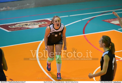 Quarti di finale: School Volley Bastia - Alp Airri Volley Aversa 7º Trofeo Nazionale Under 16 Femminile - 5º Memorial Tomasso Sulpizi.  PalaGiontella Bastia Umbra PG, 28 Dicembre 2015. FOTO: Michele Benda © 2015 Volleyfoto.it, all rights reserved [id:20151228.MB2_2590]